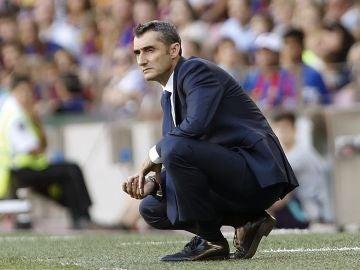 Valverde, durante el partido contra el Athletic