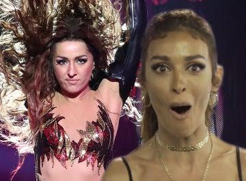 Eleni Foureira, en shock tras ver a Mimi metida en su piel por primera vez en 'Tu cara me suena'
