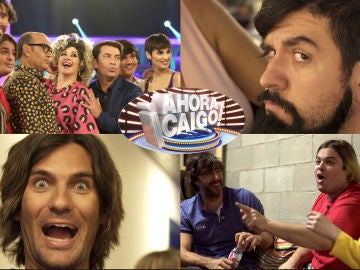 Las imágenes que no se vieron en televisión del paso de los concursantes de 'Tu cara me suena' por '¡Ahora caigo!'