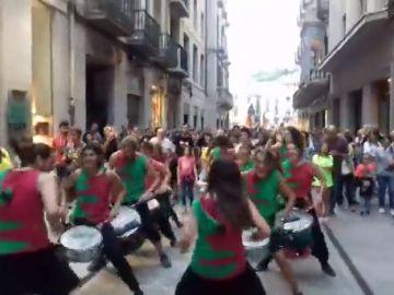 Manifestación contra la violencia en Girona