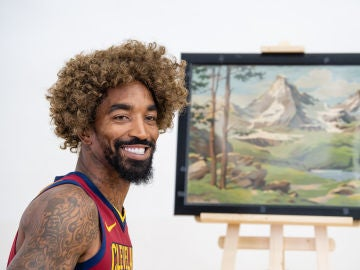 JR Smith, durante el 'Media Day' de los Cavaliers