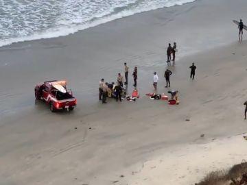 Los equipos de emergencia en el lugar del ataque