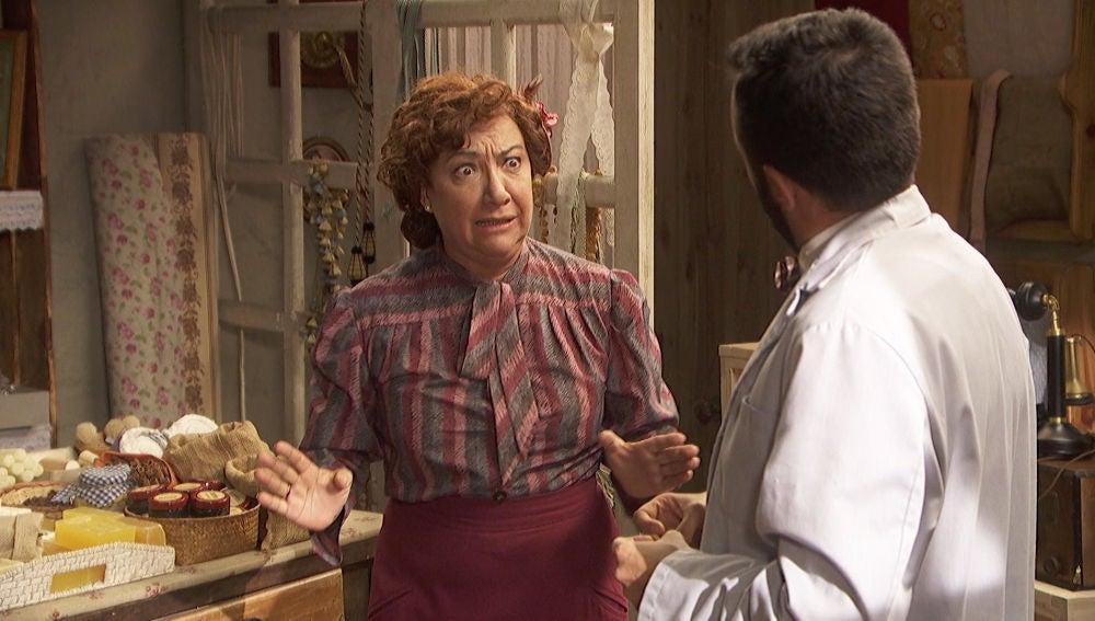 Dolores descubre que Tiburcio se ha ido y comienza una incesante búsqueda