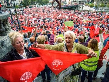 Protestas de los pensionistas en Bilbao