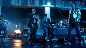 Marc Anthony, Bad Bunny y Will Smith en el videoclip de 'Está rico'