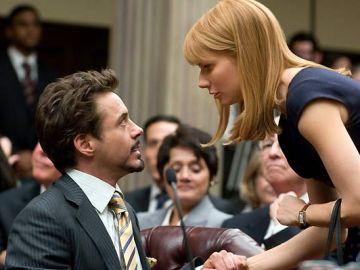 Robert Downey Jr. y Gwyneth Paltrow en 'Iron Man'