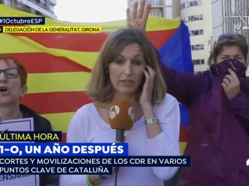 Los CDR boicotean a una reportera de 'Espejo Público' en la subdelegación del Gobierno de Girona