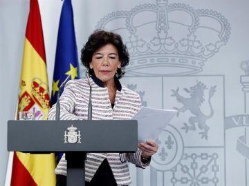 La ministra portavoz del Gobierno, Isabel Celaá