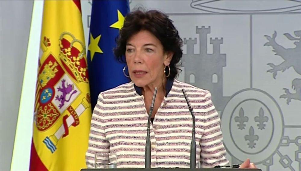 La vicepresidenta del Gobierno, Isabel Celaá