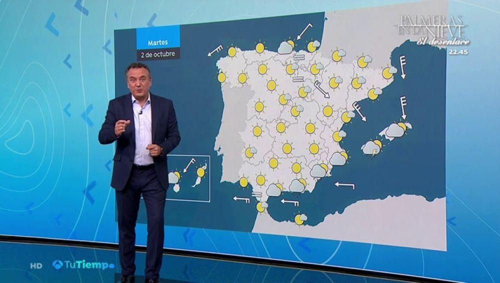 Posibles lluvias en Andalucía y sureste con estabilidad en el resto del país