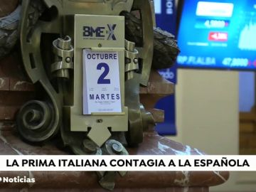 La prima de riesgo italiana se dispara y contagia a la española que supera la barrera de los 110 puntos