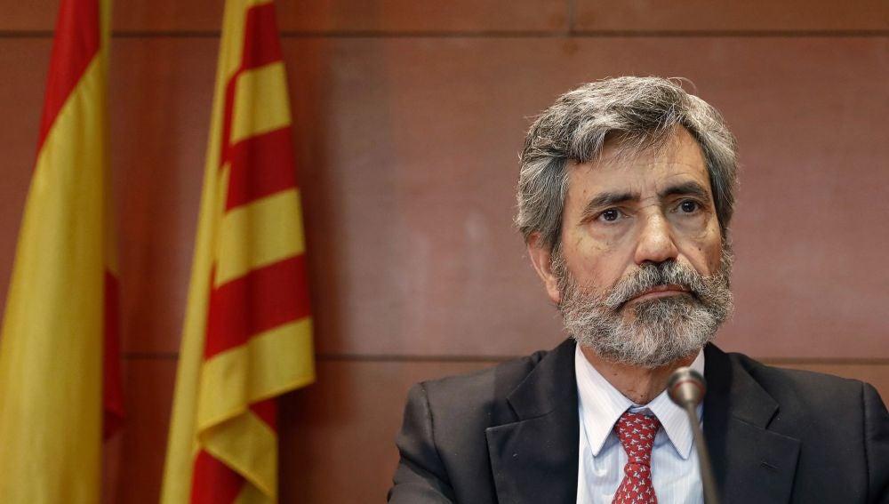 -El presidente del Tribunal Supremo y del Consejo General del Poder Judicial (CGPJ), Carlos Lesmes