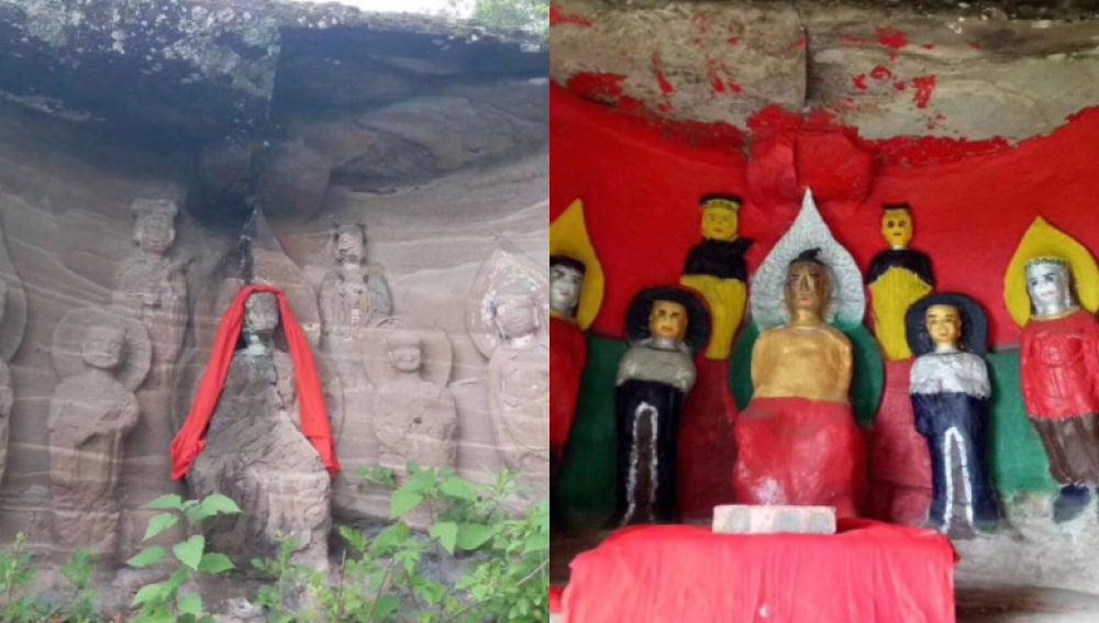 Restauración de un santuario budista en Sichuan