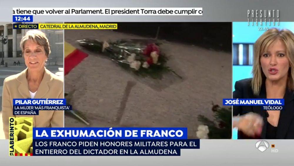 """La 'mujer más franquista de España': """"Si llevan a Franco a La Almudena media España irá en peregrinación"""""""