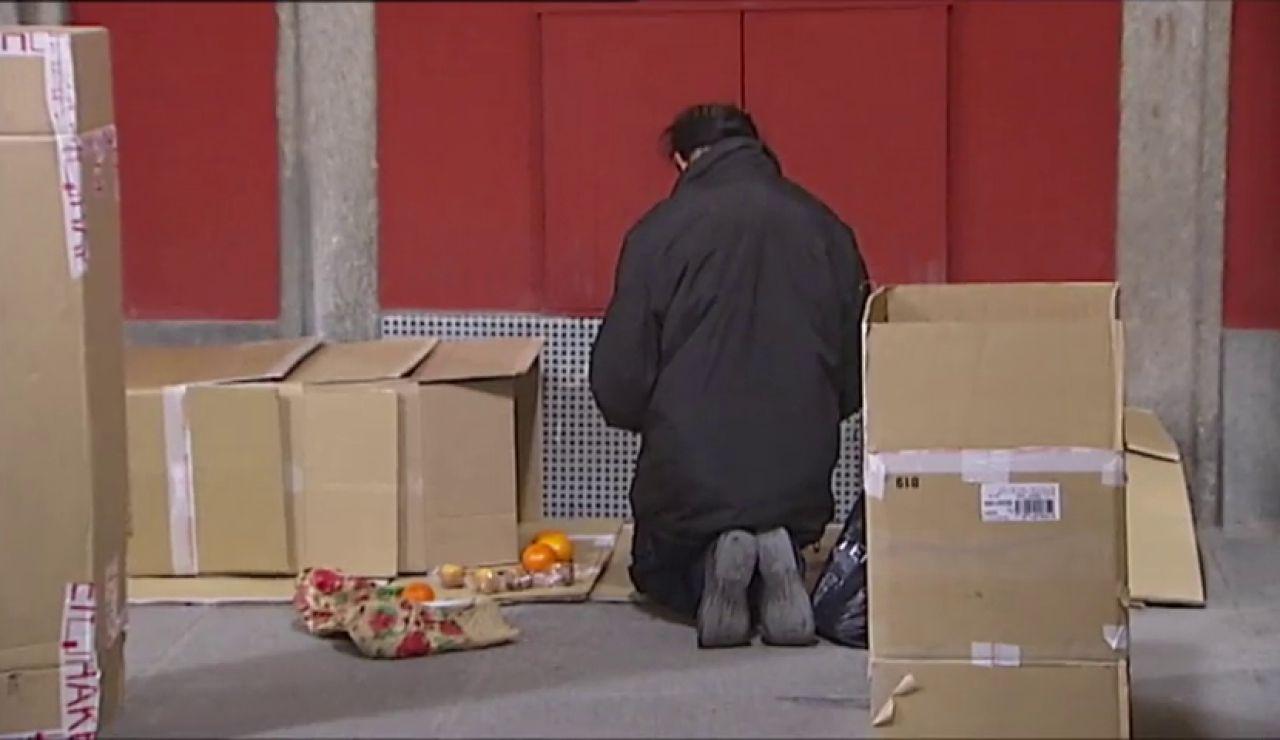 Mendigo en la calle