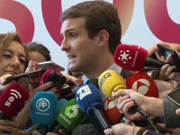 """Casado critica la inacción de Sánchez: """"No puede seguir siendo el rehén de los independentistas"""""""