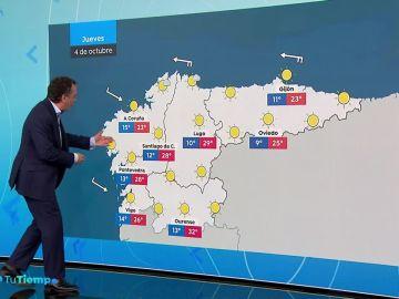 Tiempo estable en la Península con predominio de cielos poco nubosos excepto en Baleares