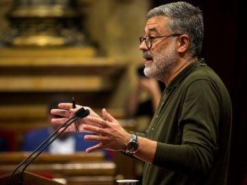 El diputado de la CUP Carles Riera, durante su intervención