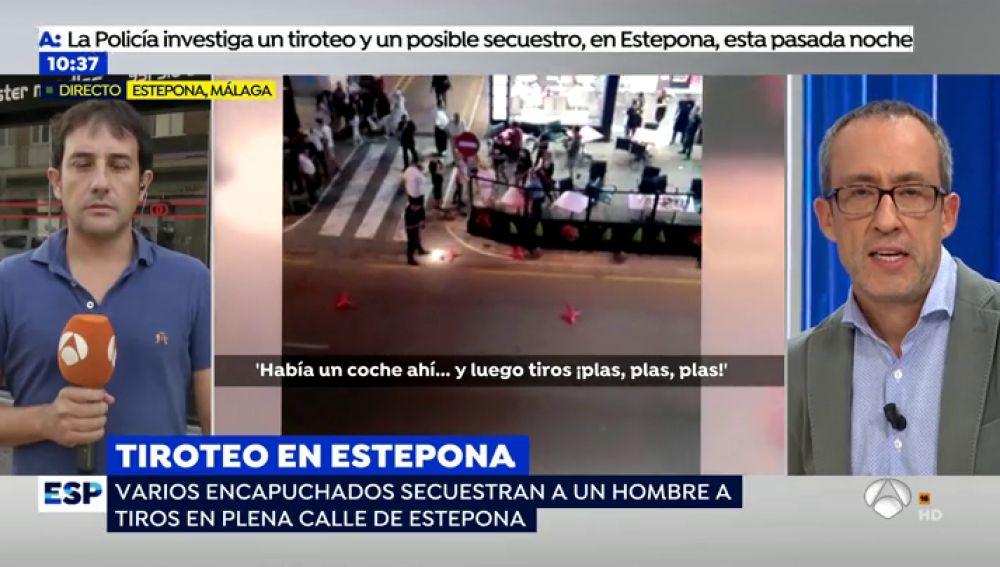 """Testigos del secuestro de Estepona: """"La gente se escondió debajo de las mesas al   escuchar los disparos"""""""
