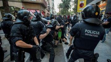 Fotografía de archivo de los Mossos d'Esquadra en una manifestación