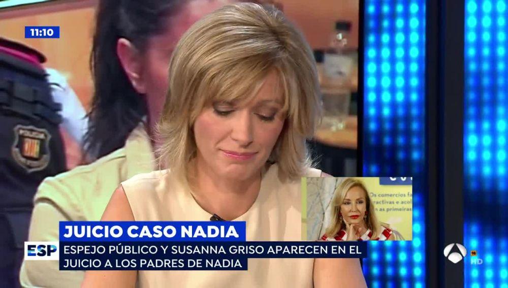"""El disgusto de Susanna Griso con el 'caso Nadia': """"Me parece alucinante que hagan creer que estábamos conchabados con la estafa"""""""