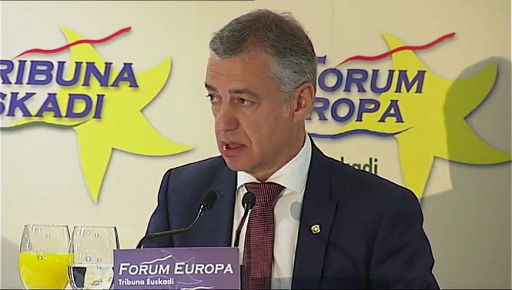 Urkullo, extremadamente preocupado por Cataluña, pide liderazgo a Torra