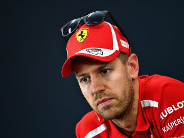 Sebastian Vettel, en rueda de prensa en Suzuka