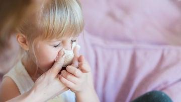 Niño resfriado