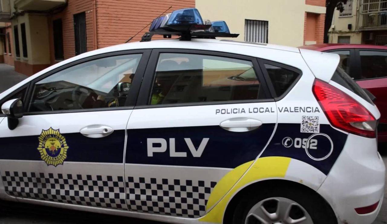 Imagen de un coche de la Policía Local de Valencia