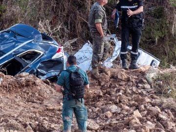 Las tareas de búsqueda del niño desaparecido en la torrentada del Levante de Mallorca.
