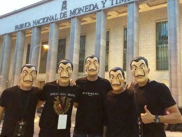 Los jugadores de España, en el 'escape room' de La Casa de Papel