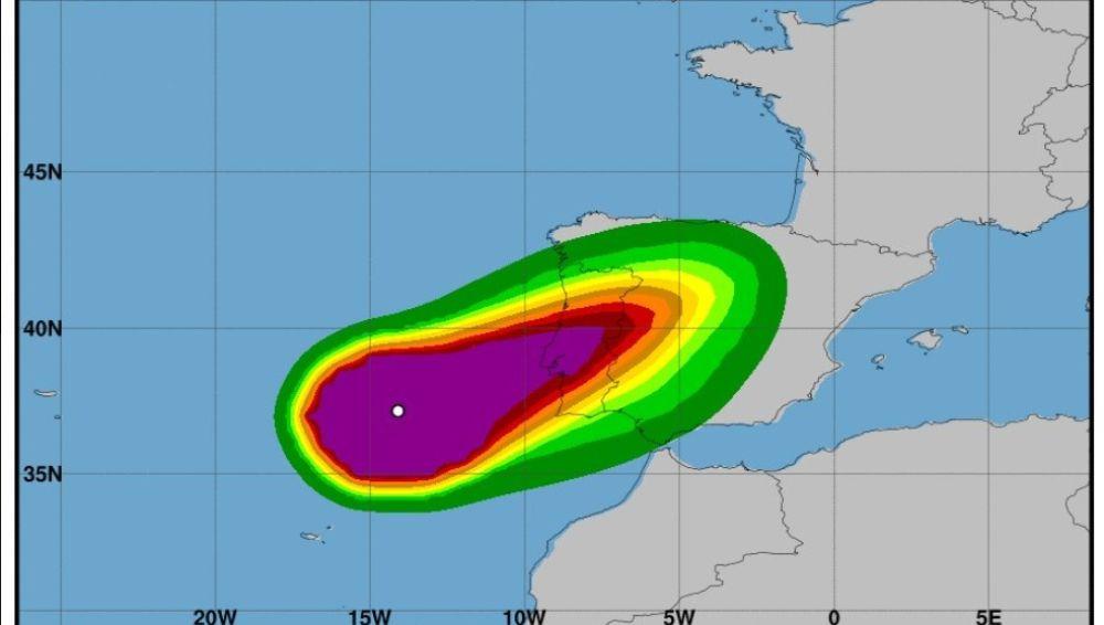Huracán Leslie convertido en ciclón post-tropical