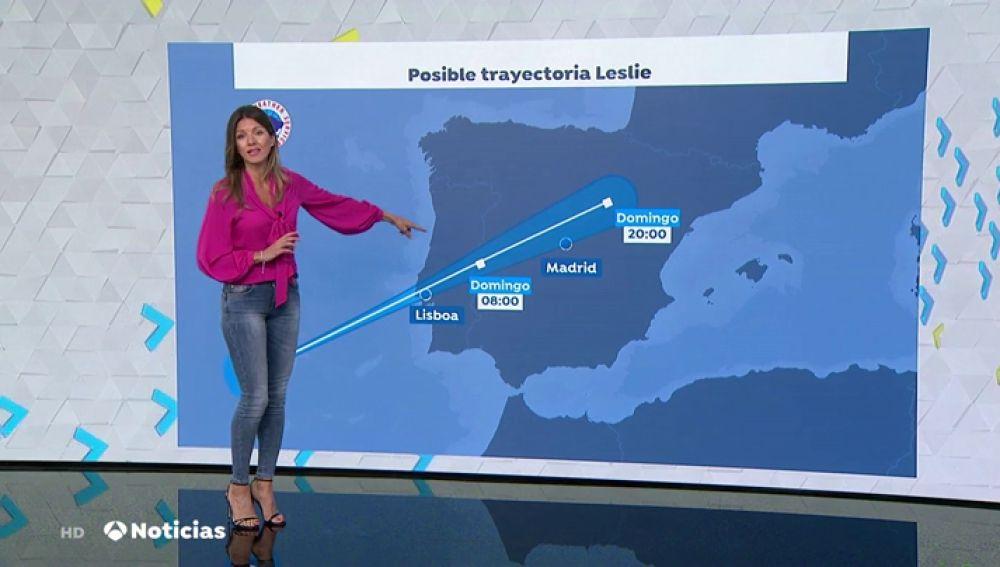 Cambia la trayectoria del huracán Leslie, que podría entrar a España por la zona entre Zamora y Cáceres