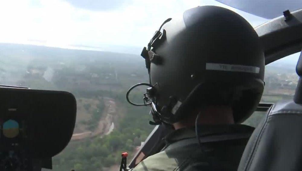 Helicóptero de búsqueda en Mallorca