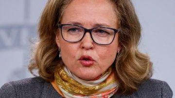 Las ministra de Economía Nadia Calviño
