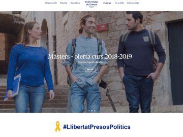 Imagen de la web de la Universidad de Girona