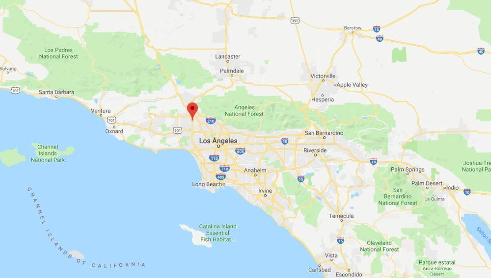 Mapa de Los Angeles