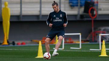 Gareth Bale se ejercita con el Real Madrid