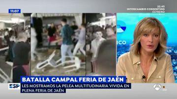 VÍDEO: Batalla campal por un empujón entre un grupo de jóvenes en la Feria de San Lucas