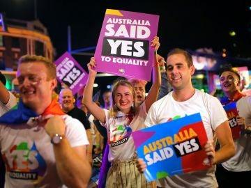 Imagen de archivo de la una marcha a favor del matrimonio homosexual en Australia