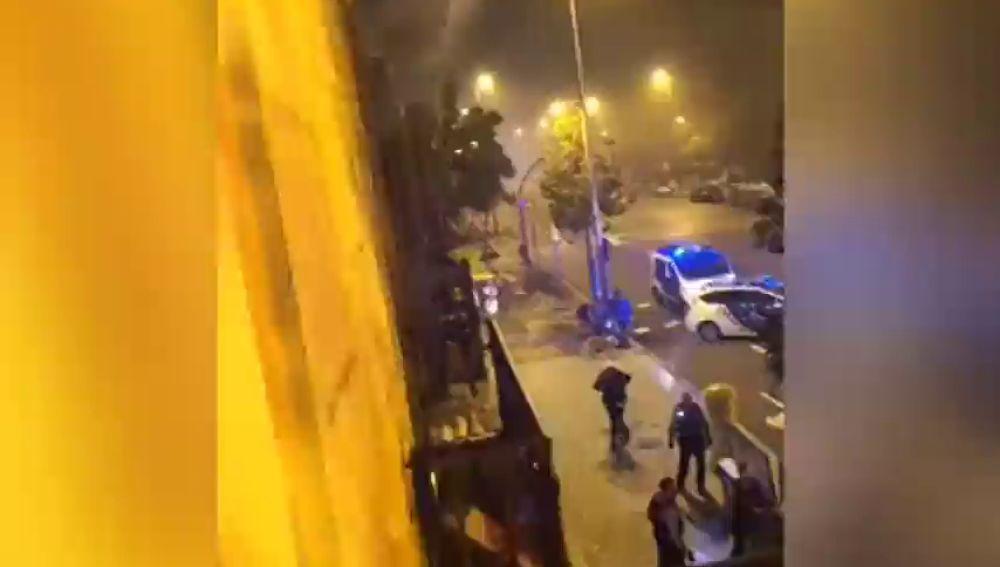 Incendio en un edificio de Barcelona