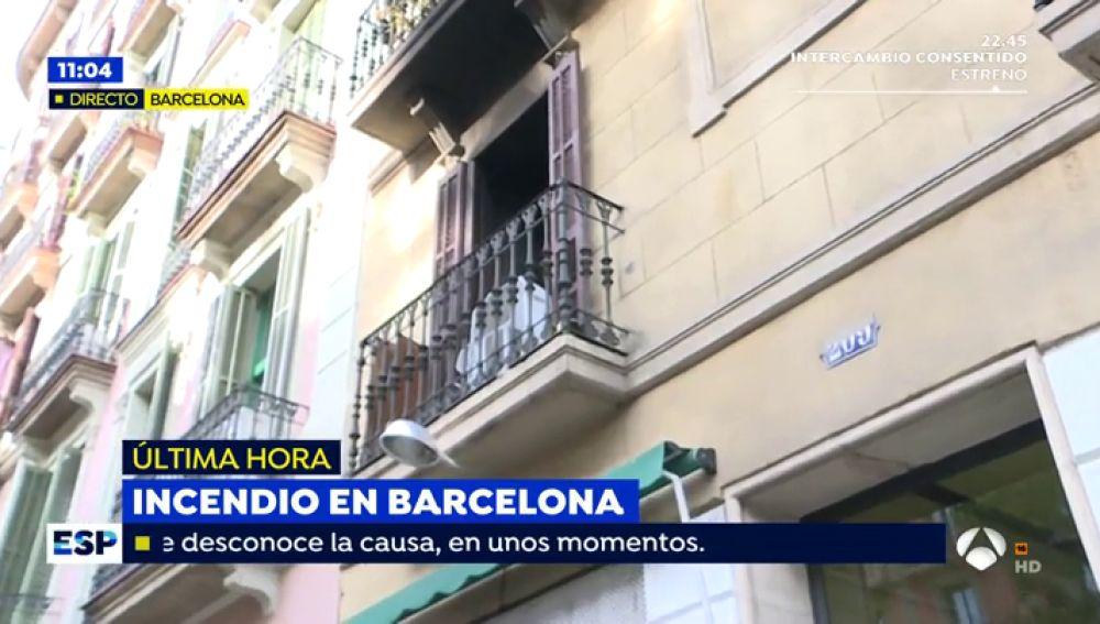 Un herido en incendio de Barcelona es detenido como presunto causante fuego