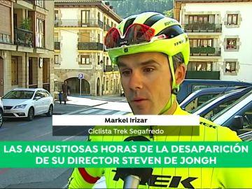 """Markel Irizar, ciclista del Trek Segafredo, habla sobre la desaparición de Steven de Jongh: """"A las dos horas de salir su señal se perdía"""""""