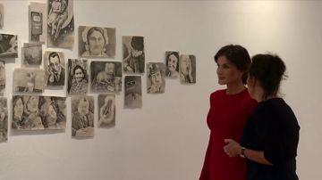 La Reina Letizia visita la Real Academia de España en Roma