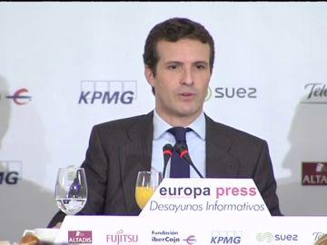 """Casado pide a Europa que exija a Sánchez lo mismo que a Rajoy en los Presupuestos: """"El Gobierno es un desastre y tiene a España hecha un desastre"""""""