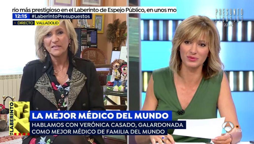 """Verónica Casado, galardonada como mejor médico de familia del mundo: """"La atención primaria tiene que ser la base del sistema y no se ha financiado correctamente"""""""