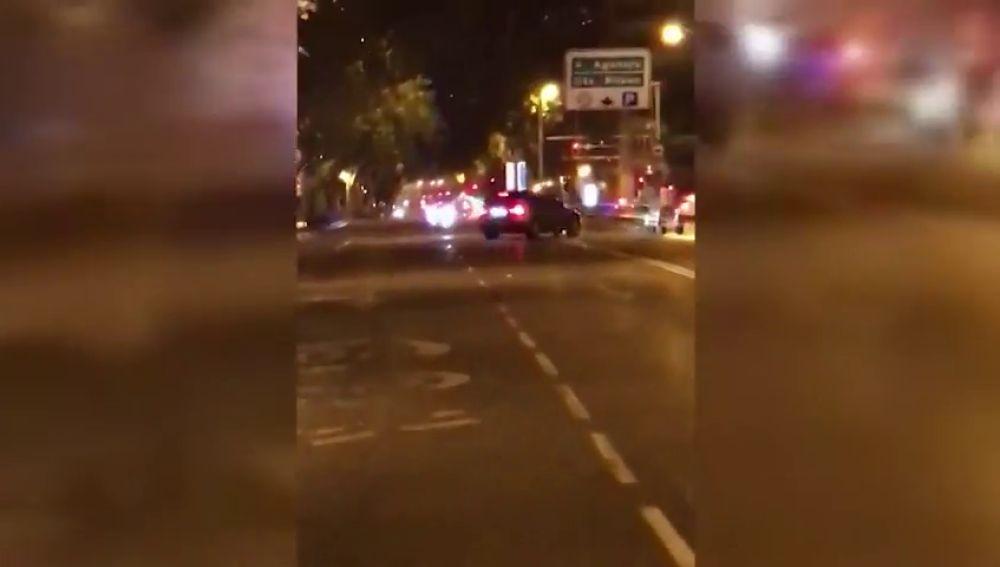 La Policía busca a un conductor temerario que intentó atropellar a un hombre en Madrid