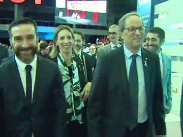 Iglesias se compromete a buscar el apoyo de ERC, PDeCAT y PNV a los Presupuestos mientras Torra evita pronunciarse