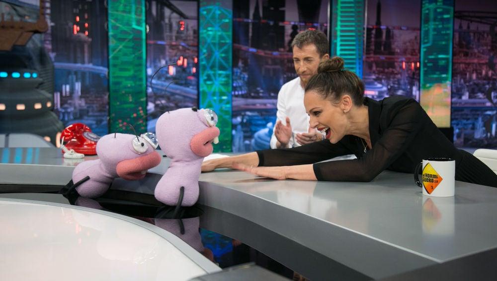 Eva González se enfrenta al primer reto de Trancas y Barrancas en 'El Hormiguero 3.0'