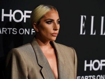 Lady Gaga durante los premios Elle
